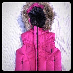 Hot pink Columbia Titanium puffer vest